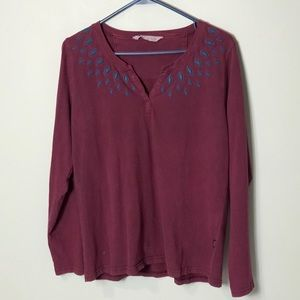 Woolrich long sleeve embroidered top shirt